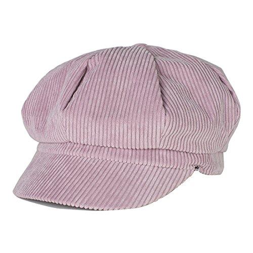 Kuyou Winter Gatsby Newsboy Barett Cap Schirmmütze Kappe Hut (Hot Pink)