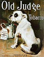 古い裁判官たばこブル犬レトロビンテージティンサイン