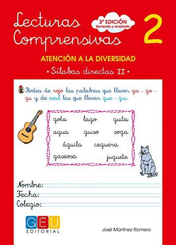 Lecturas comprensivas 2 / Editorial GEU / Educación Infantil / Mejora la comprensión lectora / Recomendado como apoyo / Actividades sencillas (Niños de 3 a 5 años)