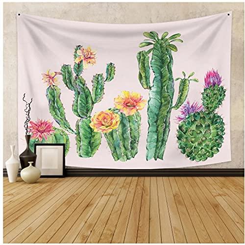 Tapiz by BD-Boombdl Cactus verde decorativo arte de la pared tela colgante hogar dormitorio decoración Yoga Mat colcha 59.05'x39.37'Inch(150x100 Cm)