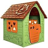 dohany, casetta per bambini verde, casetta da giardino per interni ed esterni, +2j