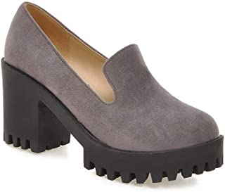 BalaMasa Womens APL12306 Pu Platform Heels