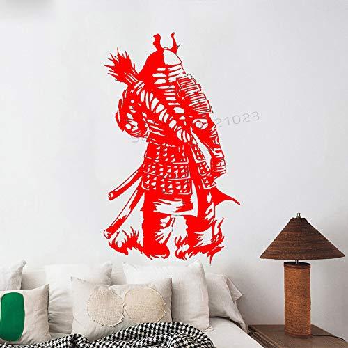 xingbuxin Tatuajes de Pared Samurai Warrior Armor Etiqueta de la Pared Sala de Estar Arte Mural Niños Dormitorio Decoración Creativa Home Poster Decor 2 57x96cm