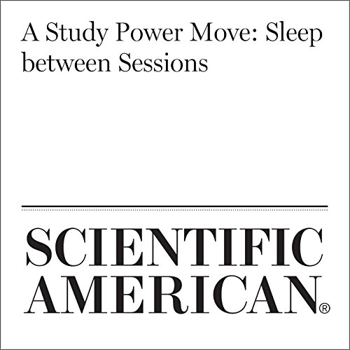 A Study Power Move: Sleep Between Sessions audiobook cover art