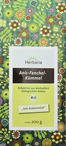 Herbaria Anis-Fenchel-Kümmel-Tee ,2er Pack (2x 200 g Tüte) - Bio