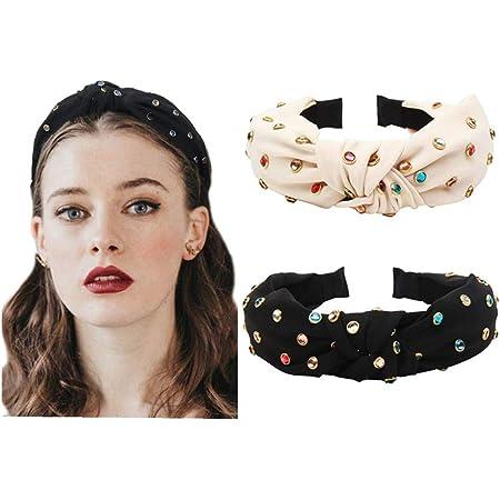 Fashion Women/'s Girl Crystal Hairband Big Knot Headband Hair Hoop Accessories