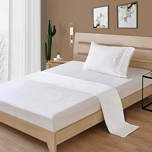 JAKI 100 Cotton Twin Bed Sheet Set 3 Piece Full Bedding Sheets Set Soft Silky Sateen Weave 300 product image