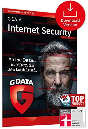 G DATA Internet Security 2021, 1 Gerät - 1 Jahr, Aktivierungscode per Email, Antivirus für PC, Mac, Android, iOS, Made in Germany - zukünftige Updates inklusive