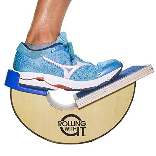 Premium Quality Wood Calf Stretcher & Foot Rocker - Achilles Tendonitis, Plantar Fasciitis, Shin Splint, Tight Calves, Arch & Heel Pain Relief - Ankle Wedge for Mobility, Flexibility, Range of Motion