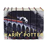 Juniper Books Harry Potter Boxed Set: Train Design with Metallic Gold Detailing   7-Volume Hardcover Book Set in Custom Designed Dust Jackets   Author J.K. Rowling   Includes All 7 Harry Potter Books