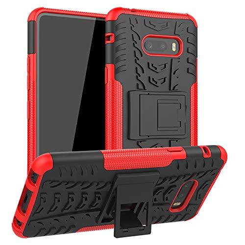 LFDZ LG V50S ThinQ 5G Hülle,Abdeckung Cover schutzhülle Tough Strong Rugged Shock Proof Heavy Duty Hülle Für LG V50S ThinQ 5G / LG G8X ThinQ [Not fit LG V50 ThinQ/LG G8S ThinQ],Rot