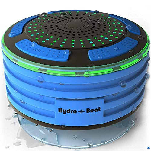 HB Illumination – Portable Bluetooth Shower Speaker – IPX7 Waterproof, Shockproof, Dustproof with LED Lights – Bluetooth 4.0 Pairs with Phones, Tablets, Computer and Radio.