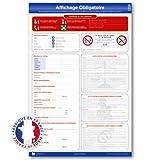 Affichage obligatoire panneau unique (conforme droit du travail) - Plastifié et effaçable - Édition 2021 - Fabriqué en France