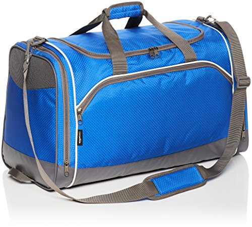 AmazonBasics Medium Lightweight Durable Sports Duffel Gym and Overnight Travel Bag - Royal Blue