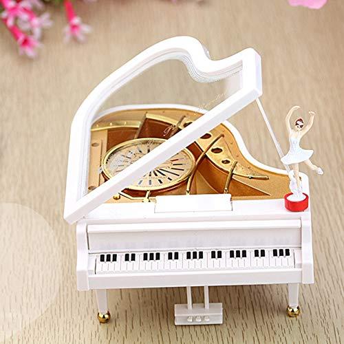 WN-PZF Spieluhren, Uhrwerk Klavier Spieluhr, Keine Batterien, Drehen Sie Einfach Das Uhrwerk, Um Schöne Musik Zu Genießen,Dies Ist EIN Geburtstagsgeschenk Für Mädchen Und Kinder