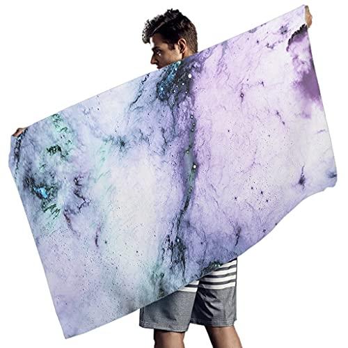 Rtisandu Toallas de playa rectangulares multicolor de mármol artístico barato, toalla de mano, toalla de playa, toalla de manos para adultos y niños, color blanco, 150 x 75 cm