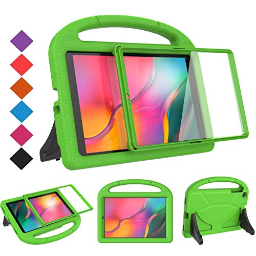 BMOUO Kids Case for Samsung Galaxy Tab A 10.1 (2019) SM-T510/T515 - Built-in Screen Protector, Shockproof Light Weight Handle Friendly Kids Case for Galaxy Tab A 10.1 inch 2019 Release - Green