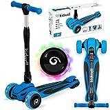 Kidwell JAX Kinder Roller Dreiradscooter | LED-Räder Scooter für Junge und Mädchen ab 3 Jahre | einstellbaren Höhe | Blau