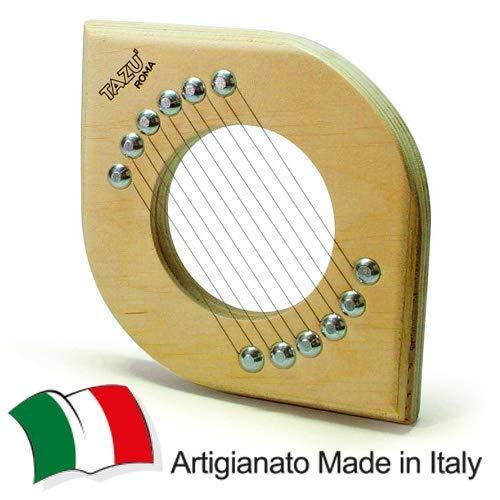 TAZU' IL TAGLIA ZUCCHINE, Artigianale, Made in Italy Slicer, Utensile Manuale da Cucina Tagliazucchine, Mandolina Affettaverdure Taglio Fette. Multistrato di Betulla, Alluminio e Acciaio Inossidabile.