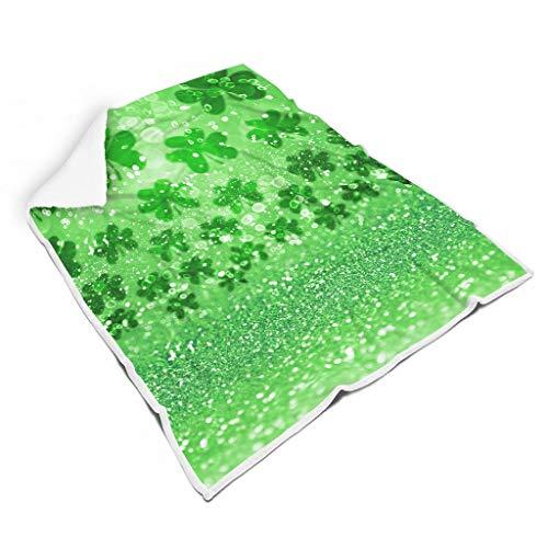 WJunglezhuang St Patrick's Day Flanell Fleecedecke Microfaser Vlies für Erwachsene und Kinder Decke White 150x200cm