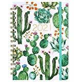 Planner 2021 - Weekly & Monthly Planner Jan - Dec, 8.5' x 6.4', Flexible Hardcover, Strong Twin - Wire Binding, Thick Paper, 12 Monthly Tabs, Inner Pocket, Elastic Closure, Inspirational Quotes