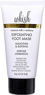 Whish Coconut Milk and Verbena Exfoliating Foot Mask, 2.5 Fl Oz