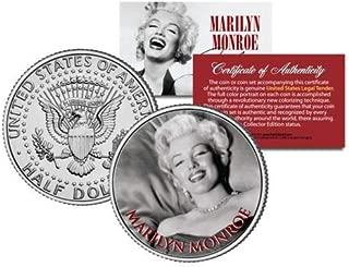 マリリンモンロー ハーフダラー 50セント コイン OFFICIALLY LICENSED B & W Portrait