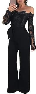 Best off shoulder lace jumpsuit Reviews