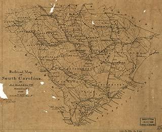 Civil War Map Reprint: Railroad map of South Carolina by Jed. Hotchkiss, T.E., Stanton, Va., 1880.