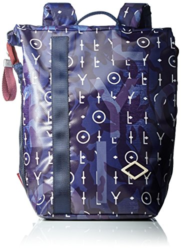 Oilily Damen Lori Backpack Mvf Rucksack, Blau (Dark Blue), 13x36x22 cm