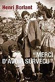 Merci d'avoir survécu - Le Seuil - 03/03/2011