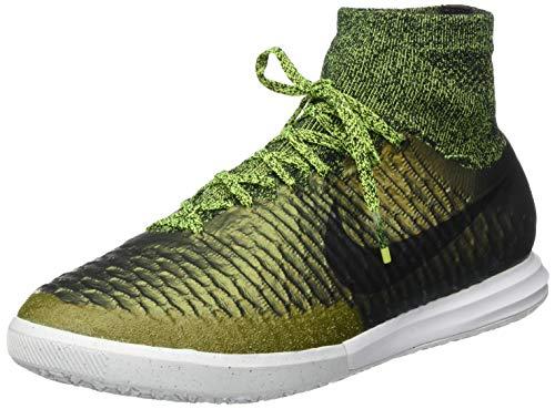 Nike Herren Magistax Proximo IC Fußballschuhe, Grün/Gold/Schwarz (Dark Citron/Schwarz-Weiß-Volt), 43 EU