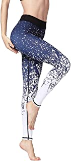 Beiziml Women's Ankle Length Printed Yoga Pants Quick Dry Gym Leggings Stretch Fit Fitness Running Athletic Tights Fitness...