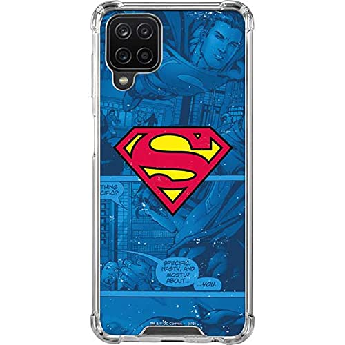 Skinit Clear Phone Case Compatible with Samsung Galaxy A12 - Officially Licensed Warner Bros Superman Logo Design