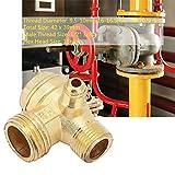 Válvula de retención del compresor de aire de Latón relleno de tres vías Unidireccional,valvula de retencion aire,De color dorado,9.5-10mm 16-16.5mm 20-20.5mm