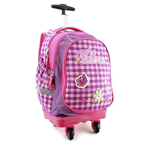 Target SMART TROLLEY Bagage cabine, 48 cm, 22 liters, Violet (Magic Garden)