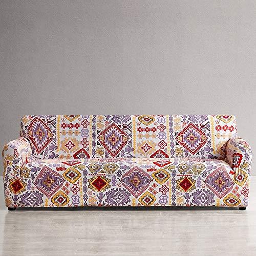 ASCV Funda de sofá Europea Fundas de sofá con Estampado Floral para Sala de Estar Sofá Toalla Funda de Muebles Sillón Funda de sofá A1 2 plazas