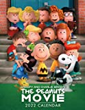 Snoopy and Charlie Brown The Peanuts Movie 2022 Calendar: Jul 2021 - Dec 2022, 18-month Grid Calendar 8.5x11 inches for teens and adults.