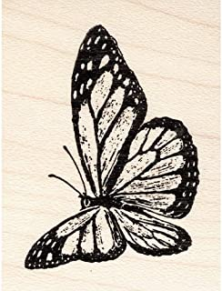 Flying Monarch Butterfly Rubber Stamp