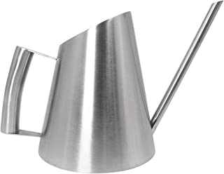 Cesun Metal Watering Can Solid Stainless Steel Pot with Long Spout Small Size for Bonsai Indoor Plants (30 Fl Oz Classic)