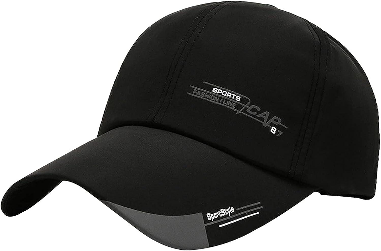 Outdoor Men Baseball Caps Adjustable Sun Protection Sports Hats (Black)