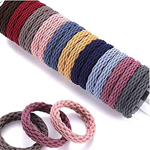 DAHI Haargummis 100stk haarband Elastische Zopfgummis Haargummi in 10 farben (Netz)