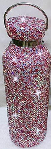 XKMY Botella termo caliente y fría de 350 ml/500 ml de arcilla de diamante, termo de acero inoxidable, taza de café para mantener caliente y fría taza térmica (capacidad: 500 ml, color: C)