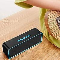 ポータブルブルートゥーススピーカー、携帯電話の音声ユニバーサル外部アンプ有線音高音量ワイヤレスBluetooth小型ハイパワー,ブルー