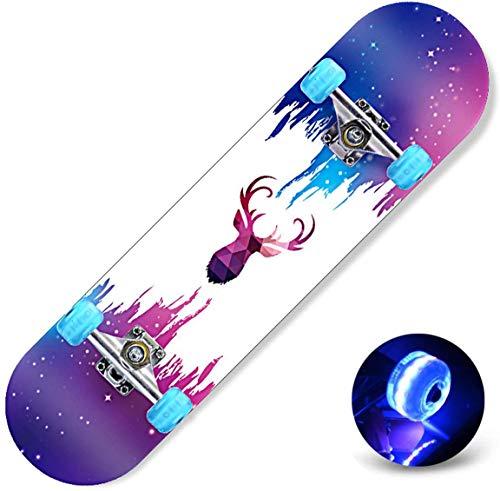 Dameng Acht Arten von Skateboards-Doppel Rocker Lang Skateboard Anfänger Jungen Girls Generation Brush Street Quad Skateboard,A