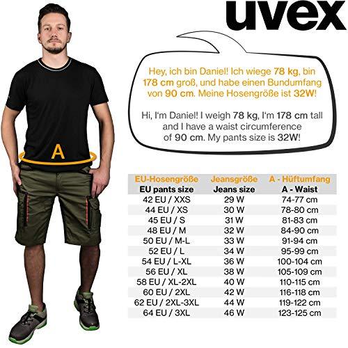 Uvex Tune-Up Pantalones Cortos de Trabajo Verde Bolsillos Shorts Laboral Bermudas con Multi Azules Grises Pantal/ón Cargo Negros