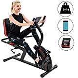 Best Stationary Bikes - Magnetic Tension Recumbent Bike Adjustable Resistance Transport Wheels Review