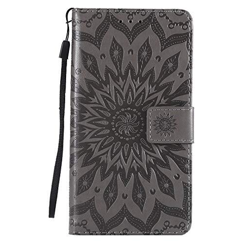 Jeewi Hülle für LG X Power 2 / M320N Hülle Handyhülle [Standfunktion] [Kartenfach] [Magnetverschluss] Tasche Etui Schutzhülle lederhülle flip case für LG X Power2 - JEKT031849 Grau