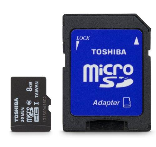 Toshiba Micro 8GB Secure Digital Micro SD Class 10 UHS-I Memory Card (PFM008U-1DCK)