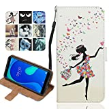 Langlee Case for BQ Aquaris U Plus, PU Leather Protective